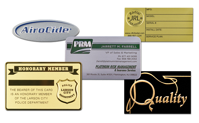 ID Plates Embossing and Debossing